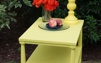 beautiful on the inside end table makeover, chalk paint, painted furniture