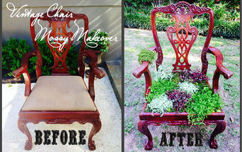 DIY: Vintage Chair Gets a Mossy Makeover