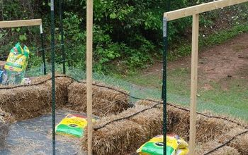 Straw Bale Garden Update, and Some Garden Cuteness
