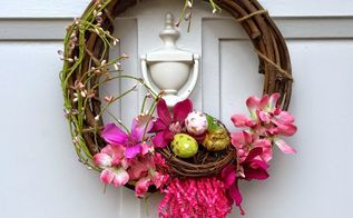 an easy flower wreath, crafts, flowers, how to, wreaths