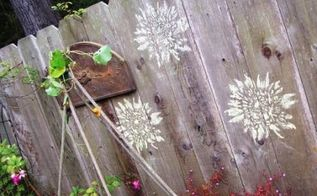fancy up your outdoors with chalk, crafts, fences, outdoor living