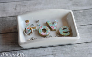 diy love trinket dish, crafts, organizing