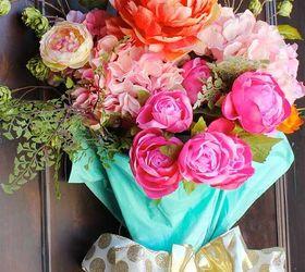 easy diy spring door decor crafts doors flowers how to repurposing & Repurposed Umbrella To Easy DIY Spring Door Decor | Hometalk
