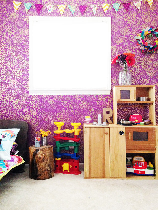 Wall Stenciling In Girl\'s Bedroom | Hometalk