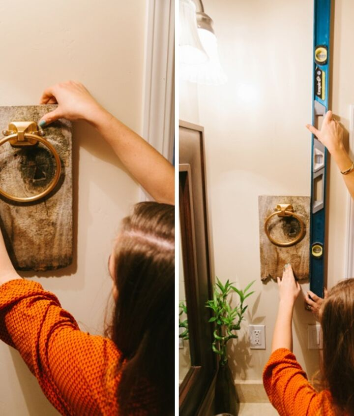 easy bathroom hand towel holder, bathroom ideas, how to, repurposing upcycling, woodworking projects