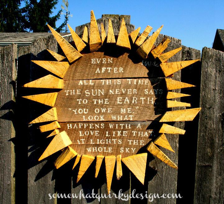 Wood Sun Garden Art Hometalk