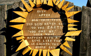 my favorite garden art ever, crafts, fences, gardening, how to, repurposing upcycling, woodworking projects