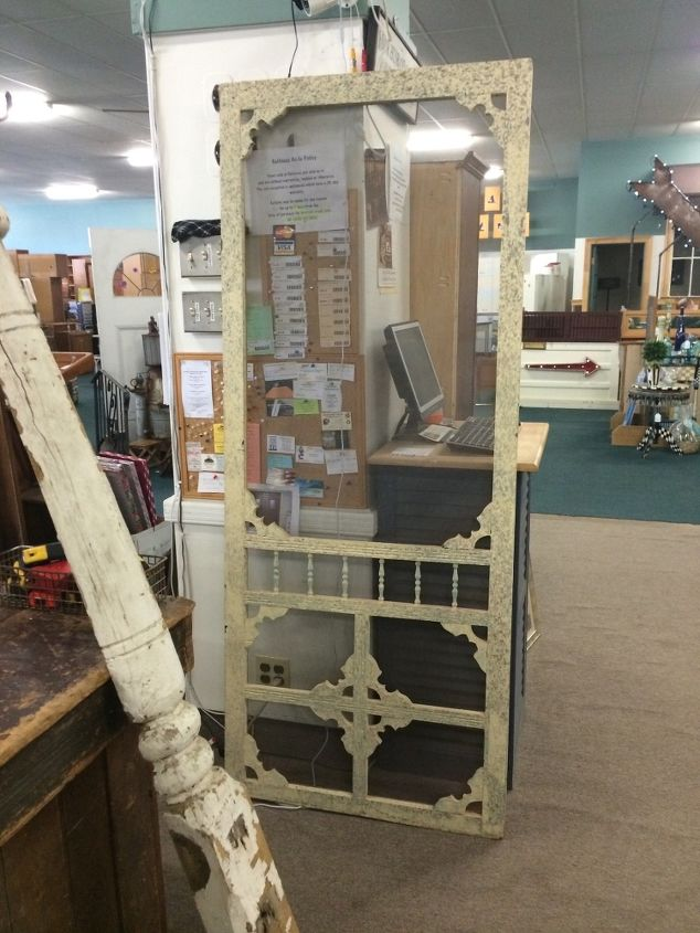 vintage screen door given new life, closet, doors, how to, repurposing  upcycling - From Vintage Screen To Pantry Door Hometalk