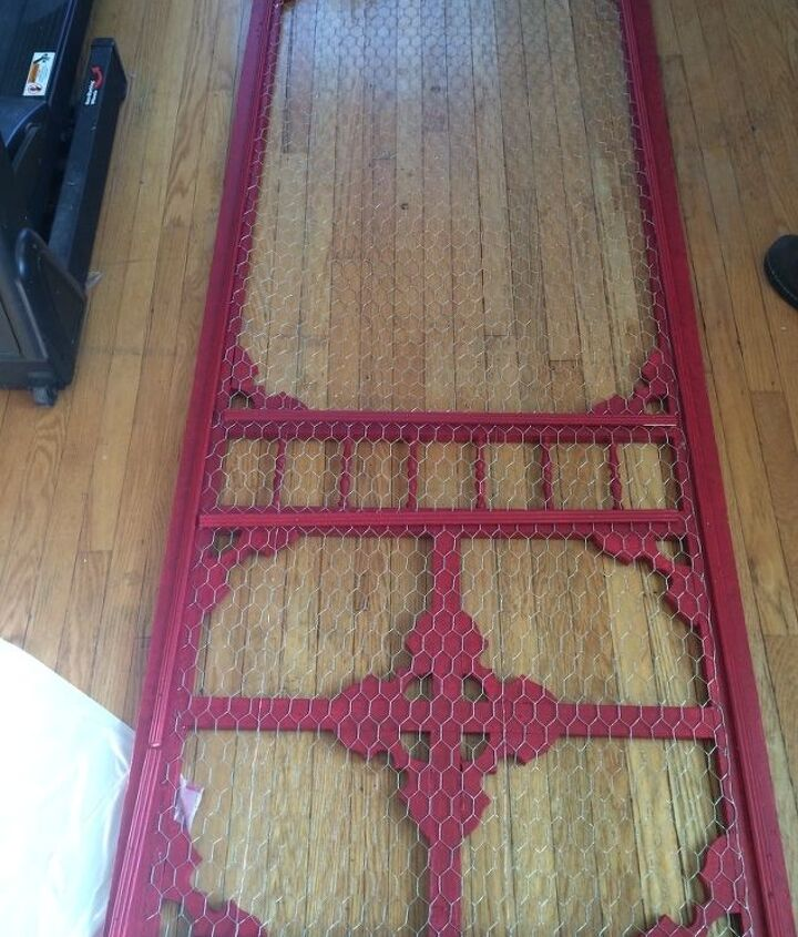 vintage screen door given new life, closet, doors, how to, repurposing upcycling