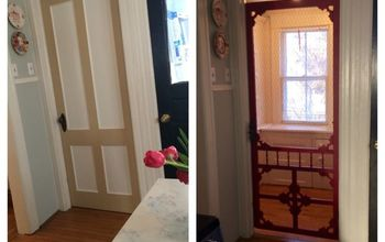 Vintage Screen Door Given New Life!