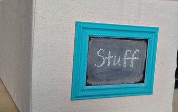 fabric covered cardboard boxes, chalkboard paint, closet, crafts, foyer, organizing, repurposing upcycling, storage ideas