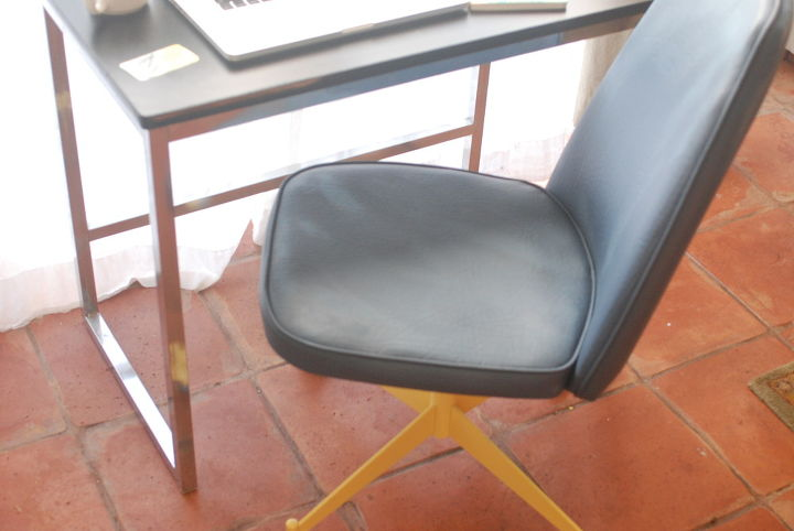 mid century office chair all dressed up, how to, painted furniture, repurposing upcycling, reupholster