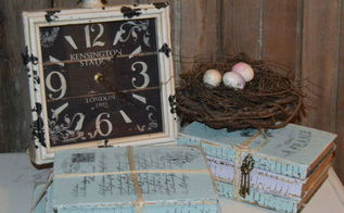 decorating with old books, crafts, repurposing upcycling