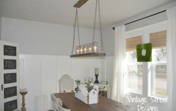 pottery barn inspired chandelier, diy, lighting, repurposing upcycling