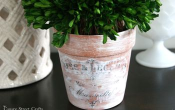 Vintage Inspired Flower Pots