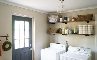 Budget Laundry Room Makeover And Reveal Rooms Organizing Shelving Ideas Brandi