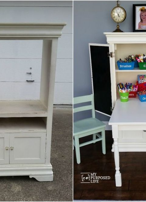 Repurposed Furniture For Kids On Repurposed Armoire Into Kids Art Center Desk Painted Furniture Repurposing Upcycling Woodworking Projects Repurposed Armoire Into Kids Art Centerdesk Hometalk