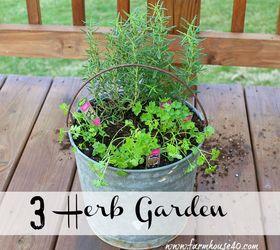 Attractive Container Herb Garden, Container Gardening, Gardening, Homesteading