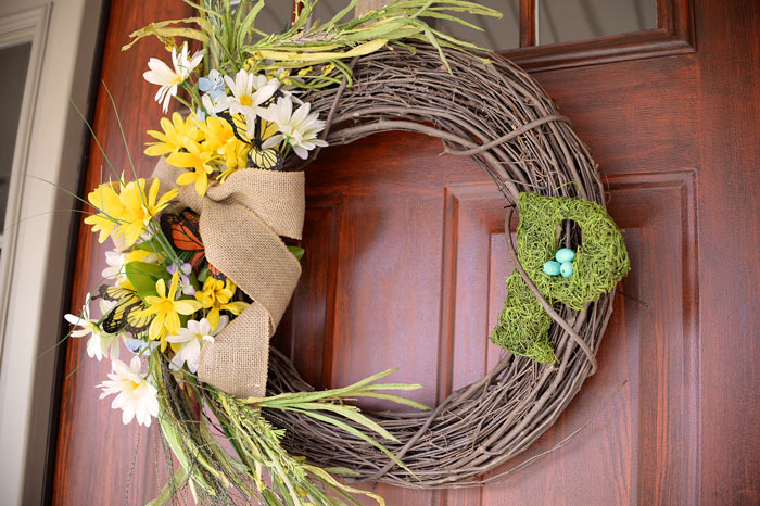 thrifty diy spring wreath, crafts, how to, wreaths