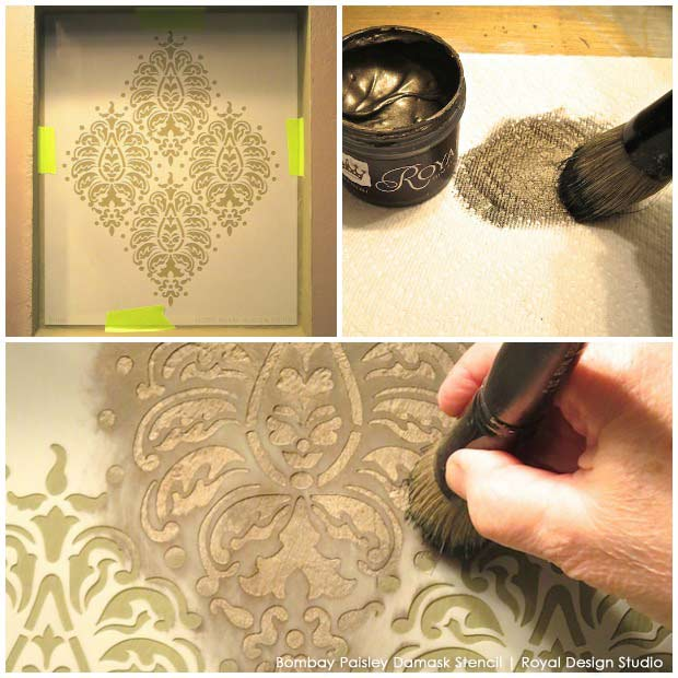 Perfectly Paisley: A Stenciled Niche Accent Wall | Hometalk