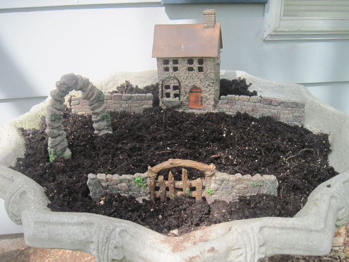 fairy garden, container gardening, gardening, home decor