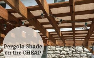 pergola shade on the cheap, decks, outdoor living