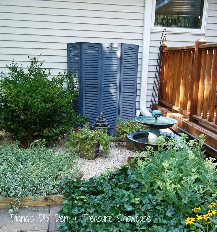 outdoor repurpose shutter screen, gardening, outdoor living, repurposing upcycling
