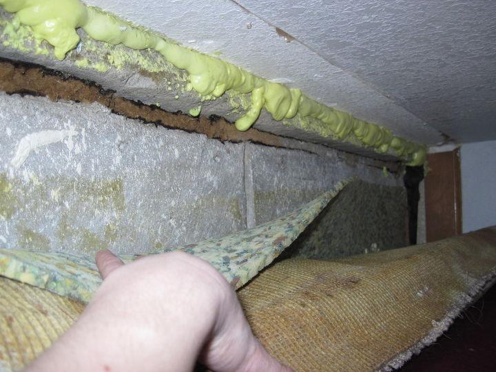 q basement expansion joint repair, basement ideas, home improvement, home maintenance repairs