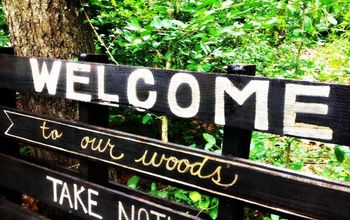 welcome to our woods pallet sign, crafts, outdoor living, pallet, repurposing upcycling