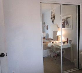 Mirrored Closet Door Makeover, Closet, Doors