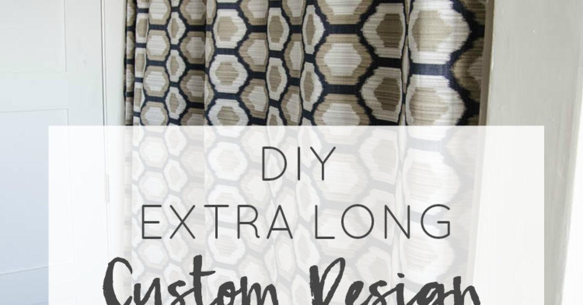 DIY Extra Long Shower Curtain | Hometalk