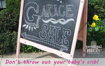 Repurpose an Old Baby Crib Into an Easel, a Drying Rack, or Trellis