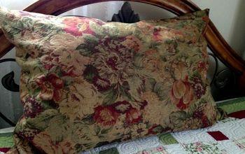 repurposed dog pillow, pets animals, repurposing upcycling, reupholster