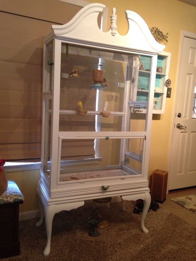 Repurposed Dresser To Bird Aviary Hometalk