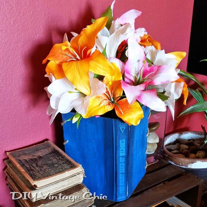 Vintage Book Flower Vase Hometalk