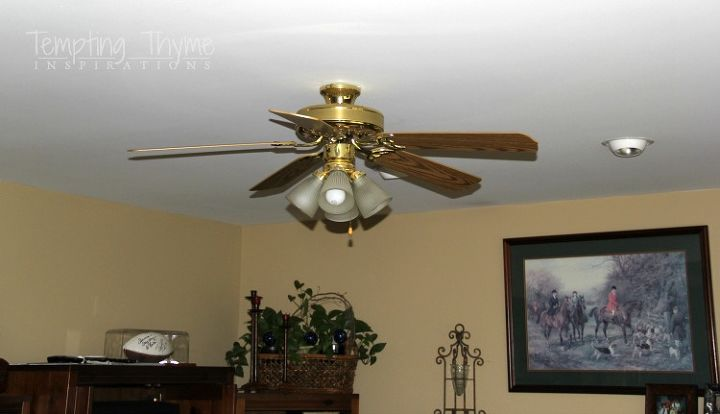 Giving an outdated ceiling fan a little face lift lighting painting
