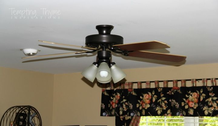 Painting an outdated ceiling fan hometalk giving an outdated ceiling fan a little face lift lighting painting mozeypictures Gallery