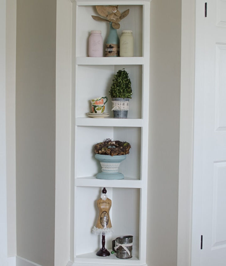 diy built in shelf the easy way tutorial, how to, painted furniture, shelving ideas, wall decor