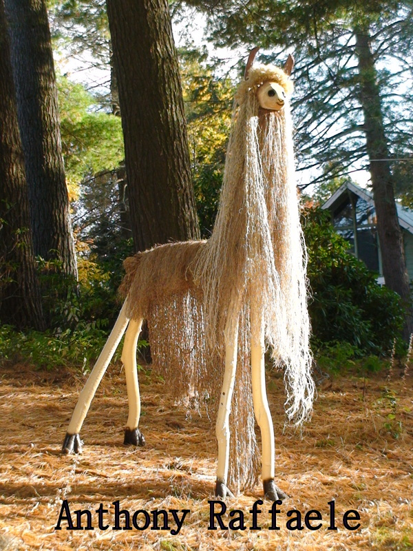 q looking to purchase used buttons, crafts, repurposing upcycling, This is a 7 foot 4 inch Llama I created a few month ago