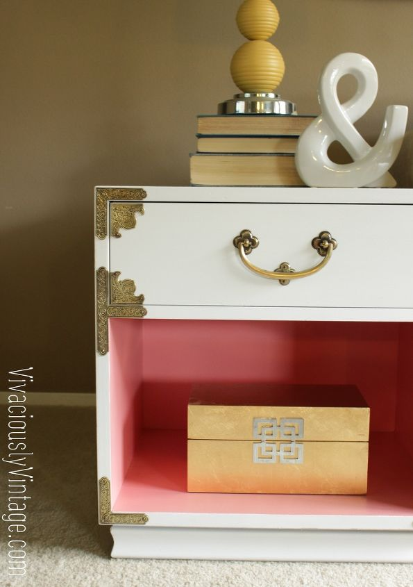 coral white campaign nightstand that hardware, living room ideas, painted furniture, repurposing upcycling