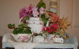 mother s day brunch centrepiece, crafts, dining room ideas, flowers, repurposing upcycling, seasonal holiday decor