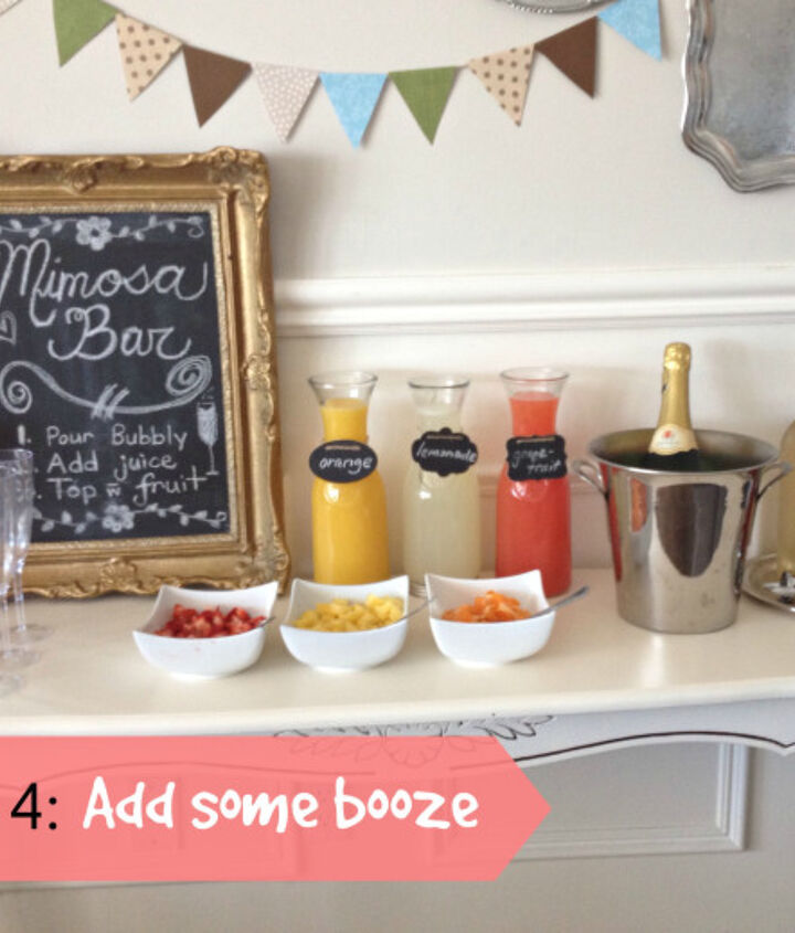 mimosa bar, home decor
