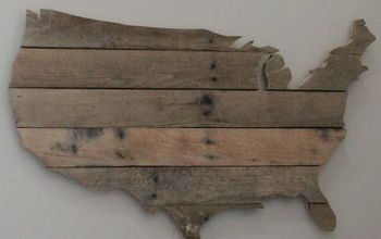 usa pallet wall art, how to, pallet, patriotic decor ideas, seasonal holiday decor, wall decor, woodworking projects