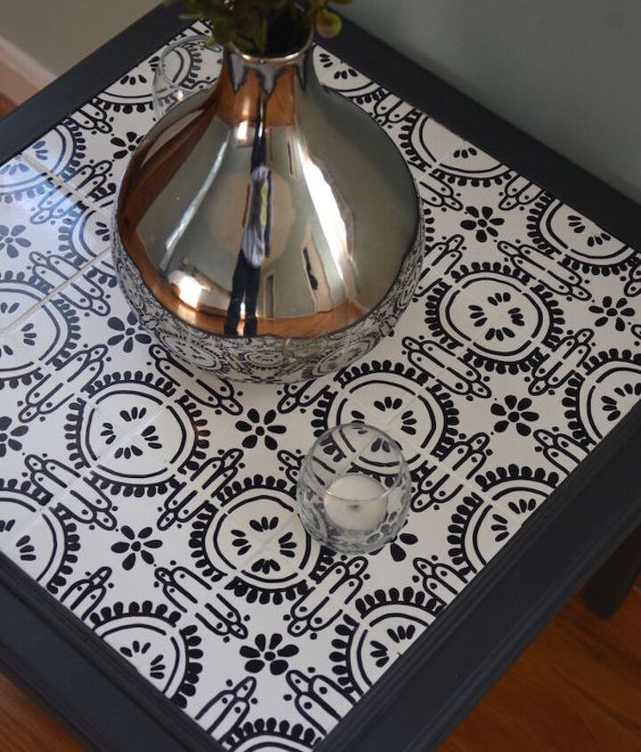 how to tile a table with custom designed tiles, how to, painted furniture, repurposing upcycling, tiling