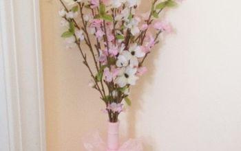 Wine Bottle Vase~Ten Minute Easy Spring Craft