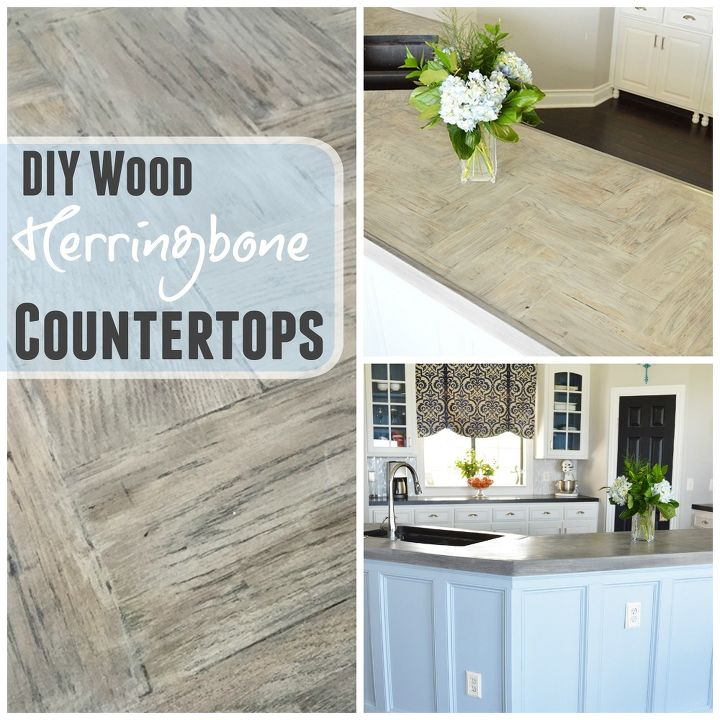DIY Wood Herringbone Counters