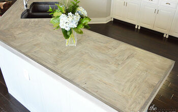 DIY Wood Herringbone Counters