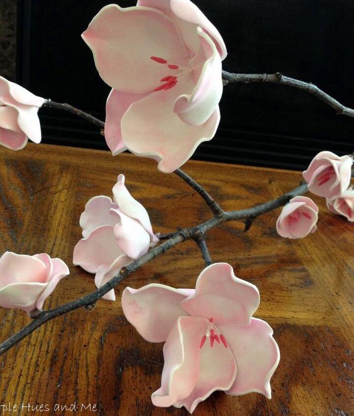 cherry blossom foam flowers diy, crafts, flowers, how to, repurposing upcycling, seasonal holiday decor