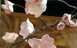 cherry blossom foam flowers diy, crafts, flowers, how to, repurposing upcycling, seasonal holiday decor