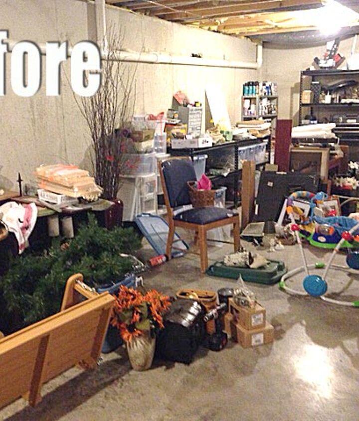 a bit of basement organization, basement ideas, organizing, storage ideas